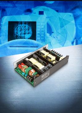 新款 600W 无风扇 AC-DC 电源,符合医疗 (BF) 和通讯/工业应用
