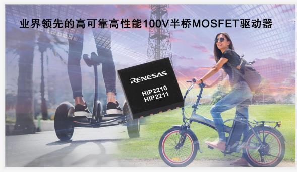 瑞萨电子推出高可靠高性能 100V 半桥 MOSFET 驱动器