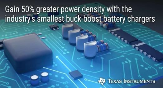 新型降压-升压电池充电器将功率密度提高了 50%,充电速度提升了 3 倍,可用于支持 PD 协议的
