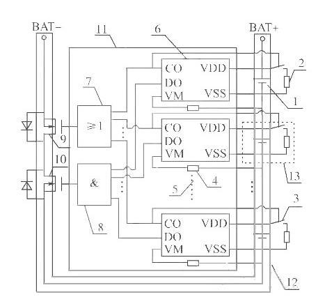 锂电池保护板均衡原理-锂电池组保护板均衡充电工作详解-KIA MOS 管