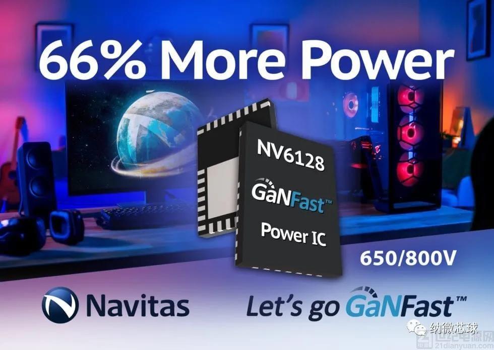 官宣!纳微半导体新一代氮化镓功率芯片NV6128问世,承载功率增加66%,加速进军高功率市场!