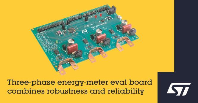 意法半导体推出功能完整的电能表评估板 集成低成本传感器和稳健的电隔离功能