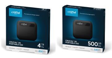 美光新推出的 Crucial 英睿达 X6 移动固态硬盘产品 为消费者提供出类拔萃的性能、价值和便携性