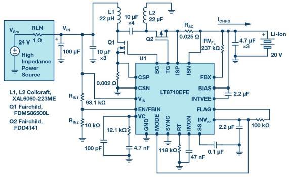 SEPIC、升压、反相和反激式控制器解决了高阻抗、超长工业电源线的电压降问题
