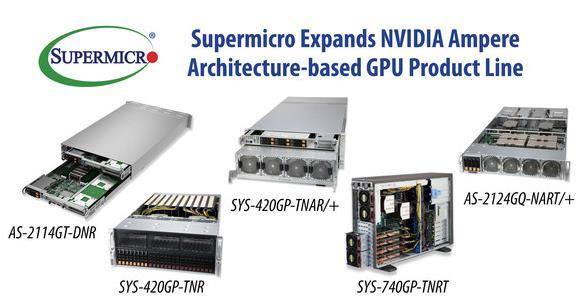 Supermicro 扩大适用 NVIDIA A...
