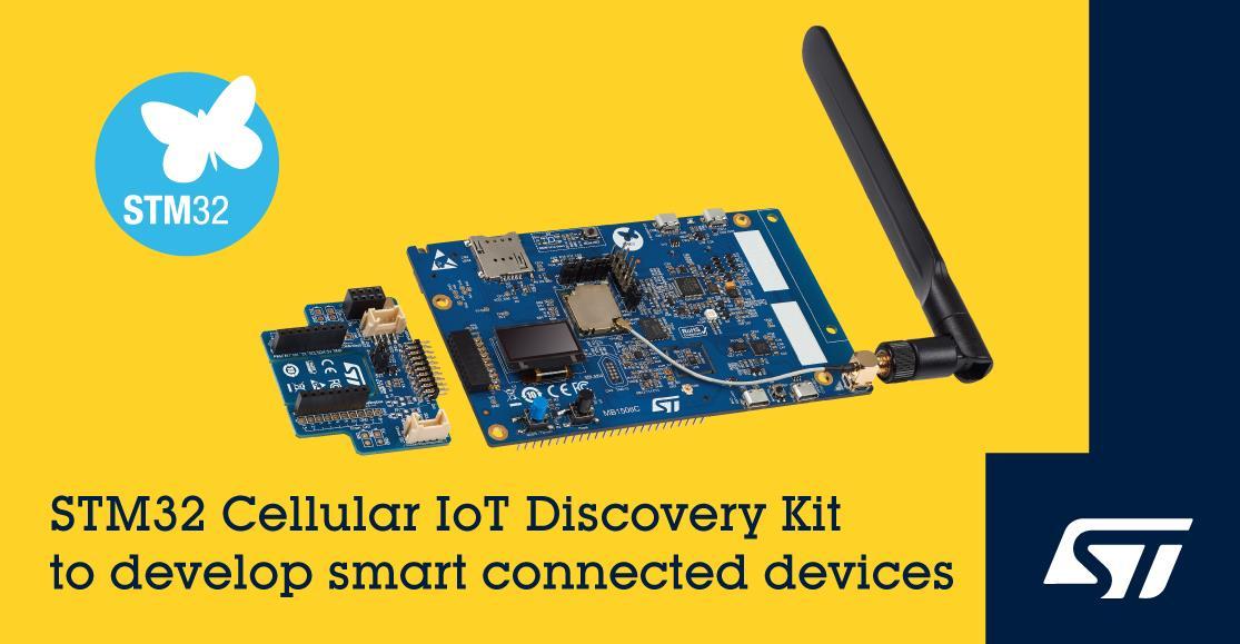 意法半导体发布 Cellular IoT Discovery 蜂窝物联网开发套件,集成带有引导程序配