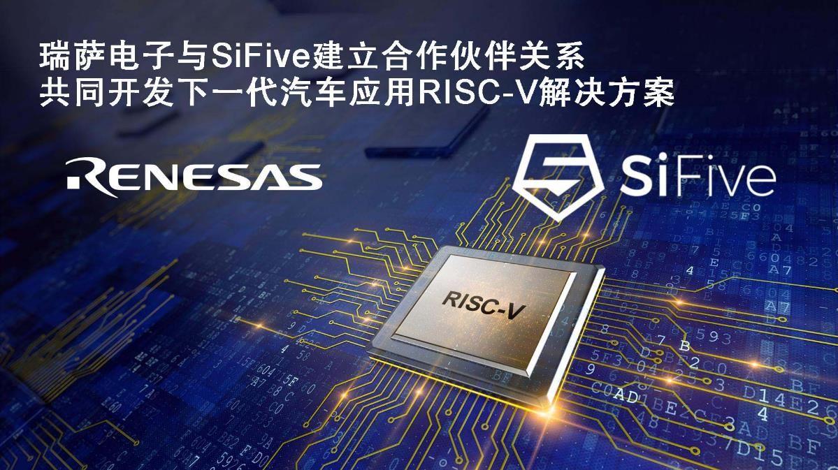瑞萨电子携手 SiFive 共同开发面向汽车应用的 新一代高端 RISC-V 解决方案