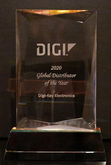 Digi-Key Electronics 连续第四年被 Digi International 评为年