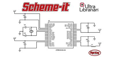 Digi-Key Electronics 推出新的 Scheme-it 功能 新功能包括 Ultra Librarian® 符号集成、定制符号编辑器和数学标记